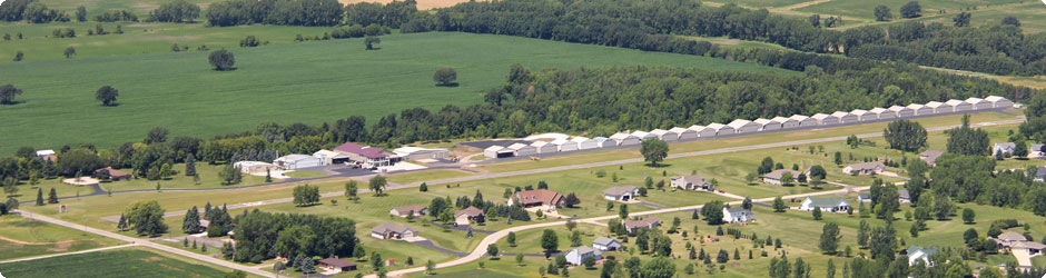 Aerial View of Brennand Airport looking northwest