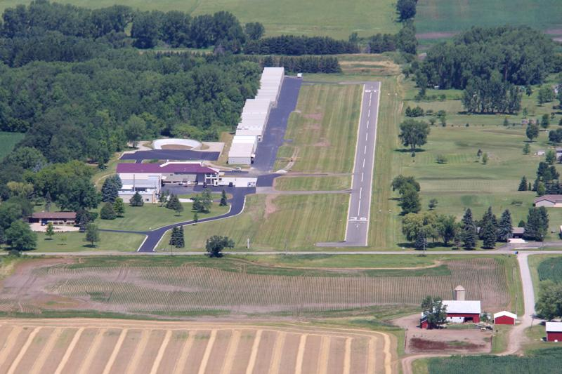 Aerial View of Brennand Airport looking north
